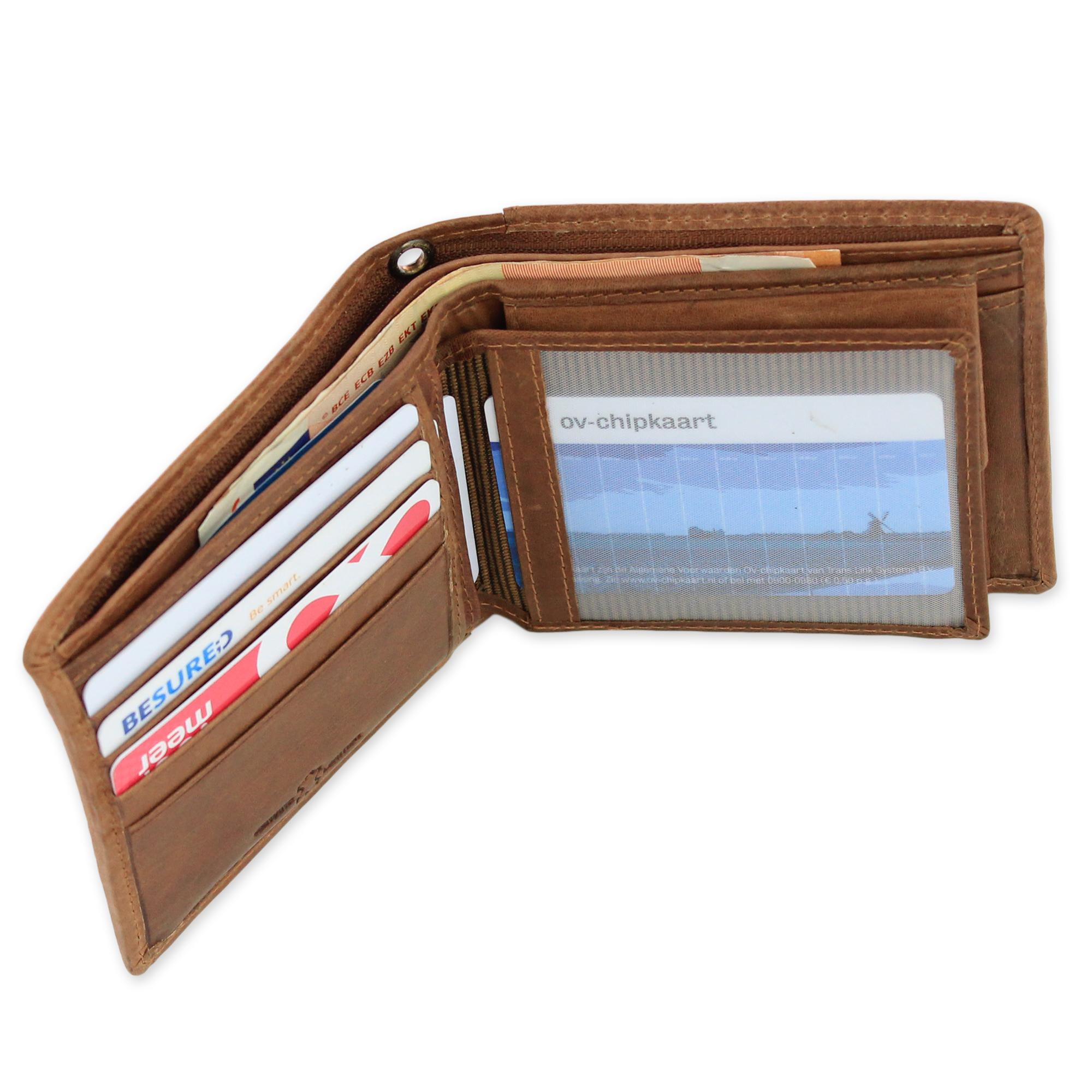34115f30261 Leren portemonnee bi-fold met RFID Protected art. 1106   E-belts