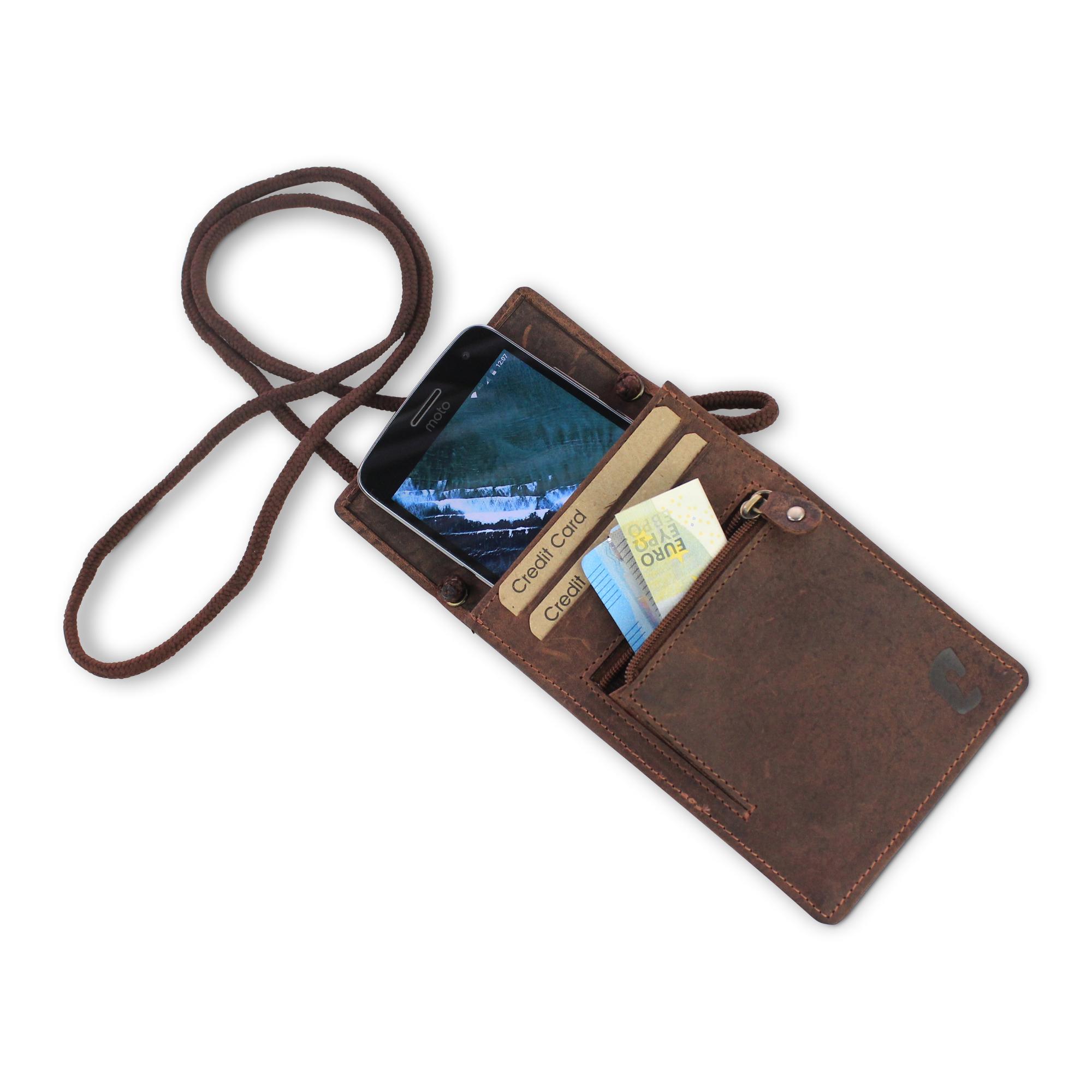 cf9e4a5b3ae 10 st. Leren XL Paspoort Nektasje / Reistasje voor Iphone 8 RFID ...