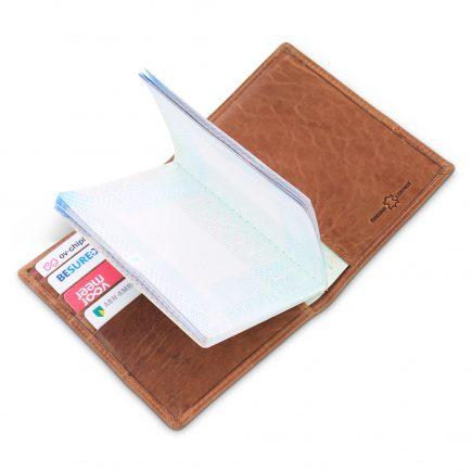 7584bdb909b 10 st. leren paspoorthouder