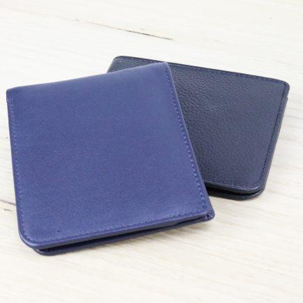 dunne heren portemonnee zwart en blauw