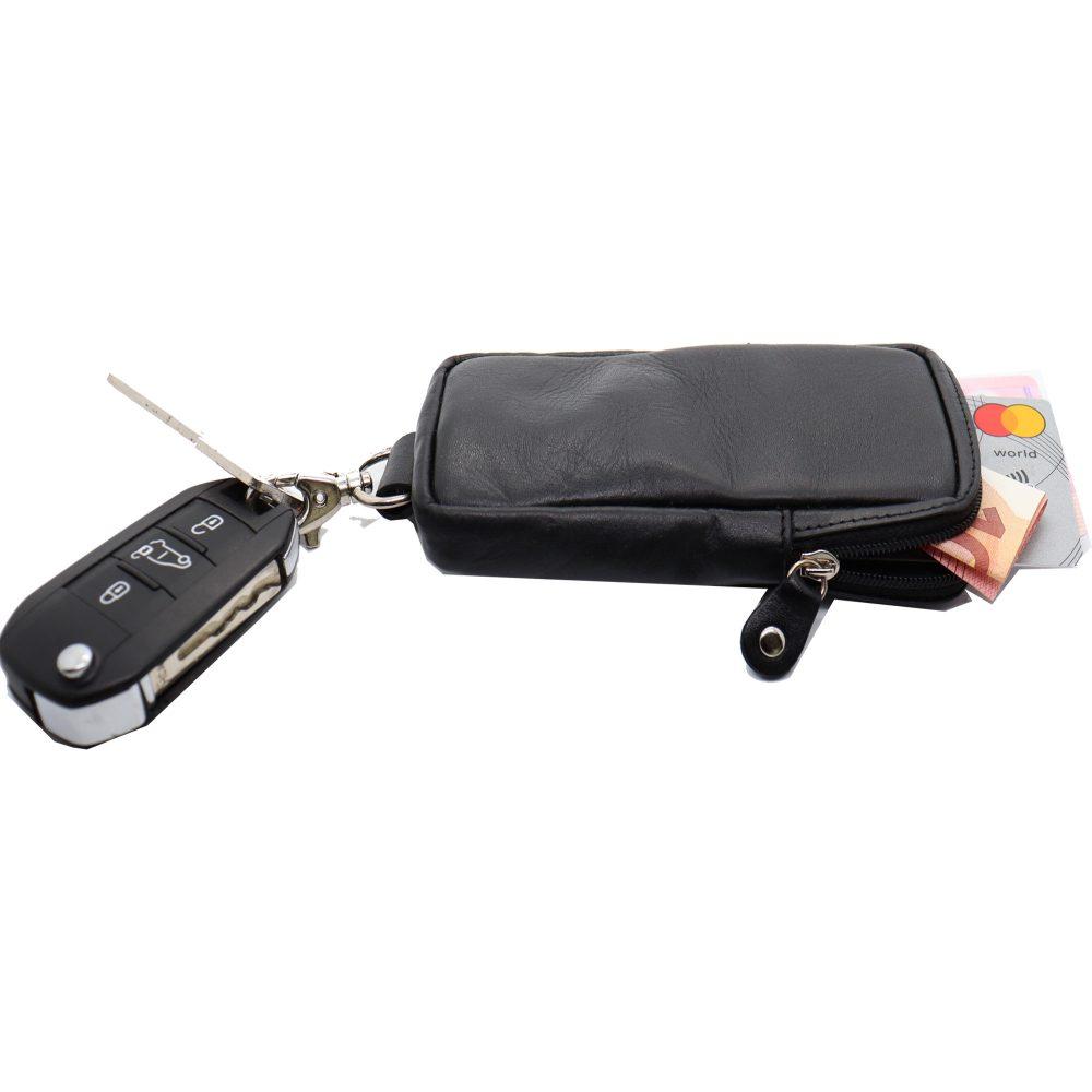 sleutelelhanger zwart sleuteletui